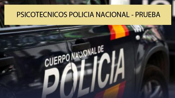 Psicotecnicos Policia Nacional Modulo 1